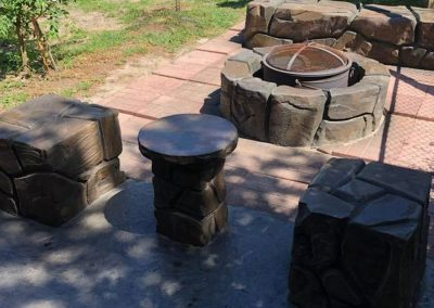 Artisan Stone Creations - Fire Pit with Cocktail Table and Dual Seats